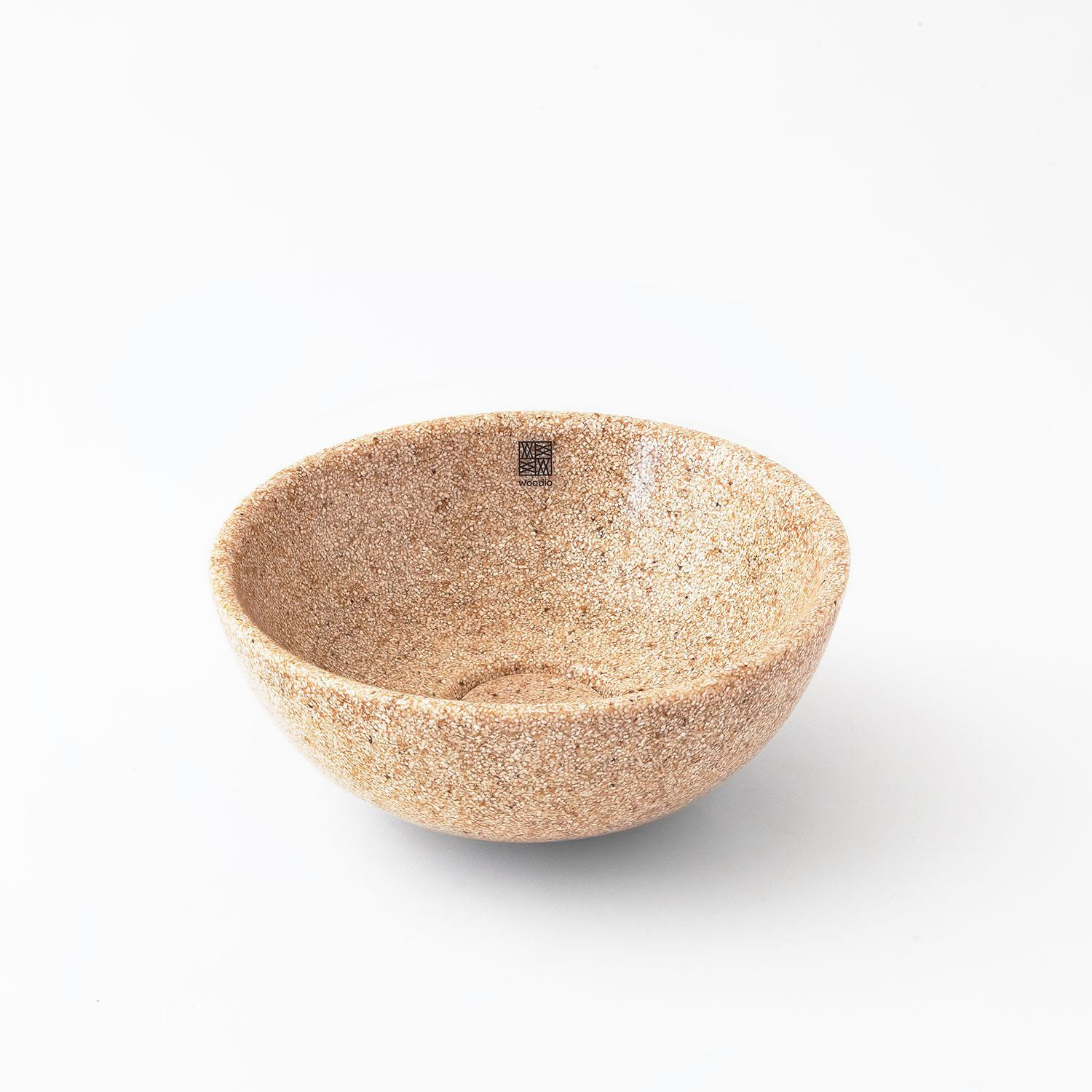 Woodio Soft40 table top washbasin in Natural